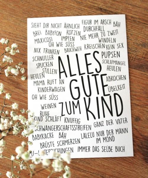 Postkarte - Alles Gute zum Kind