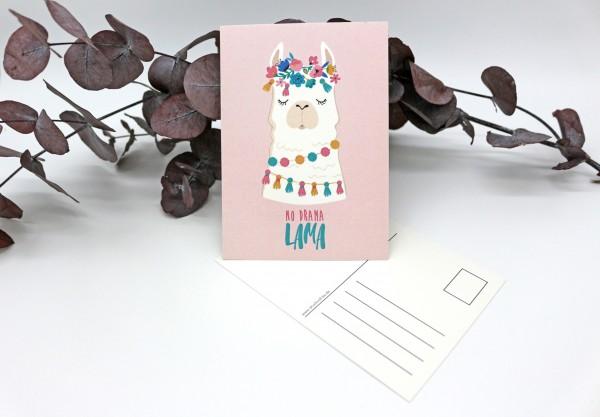 Postkarte - No Drama Lama
