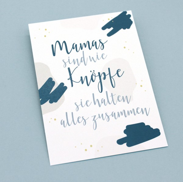 Postkarte - Mamas sind wie Knöpfe