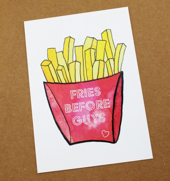 Postkarte - Fries before Guys