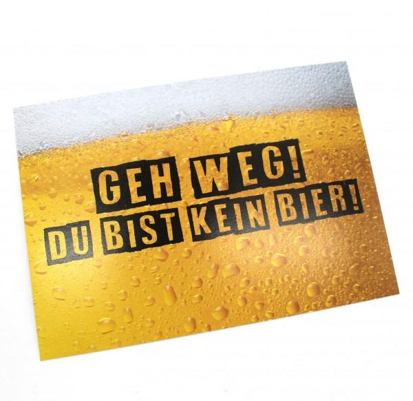 Postkarte - Geh Weg Bier