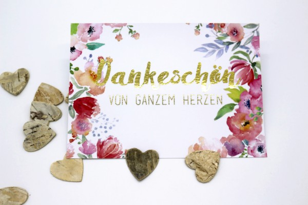 Postkarte - Dankeschön