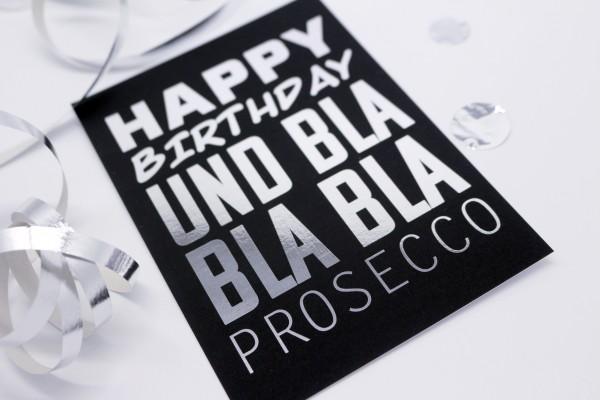 Postkarte - Bla Bla Bla Prosecco