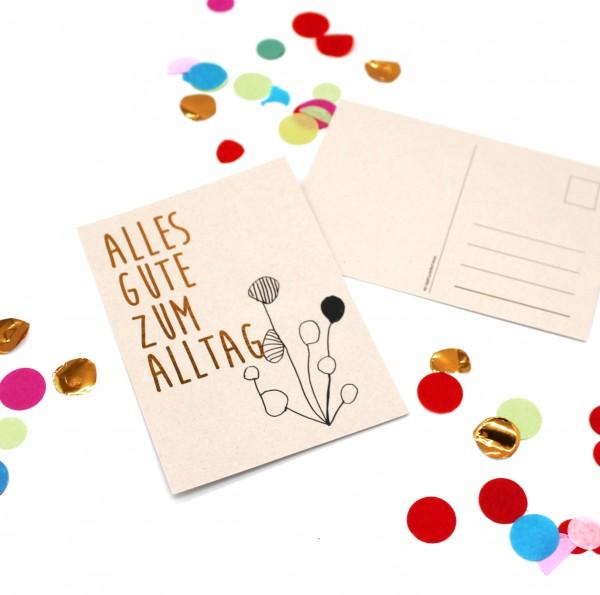 Postkarte - Alles Gute zum Alltag