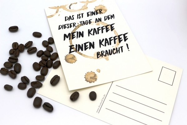 Postkarte - Kaffee