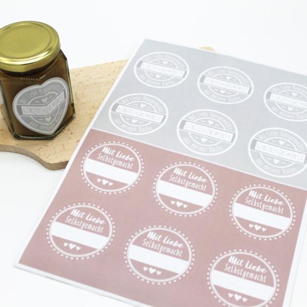 Etiketten - Marmelade