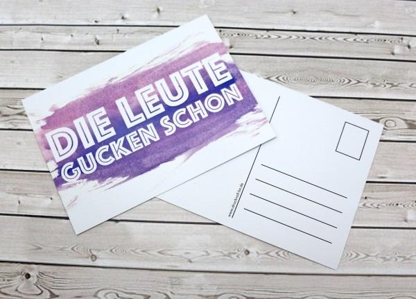 Postkarte - Die Leute gucken schon