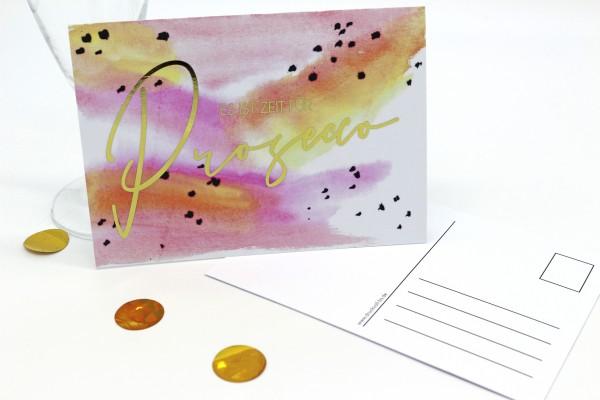 Postkarte - Prosecco