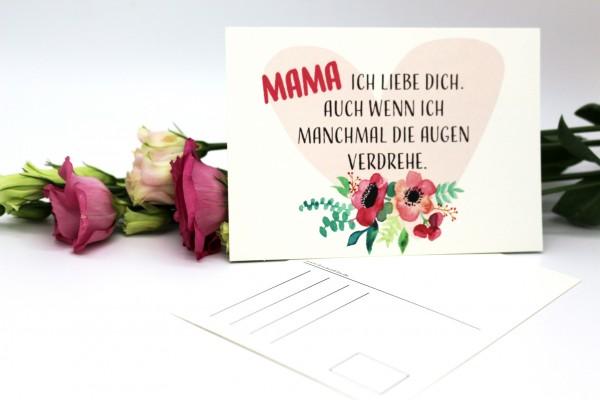 Postkarte - Mama