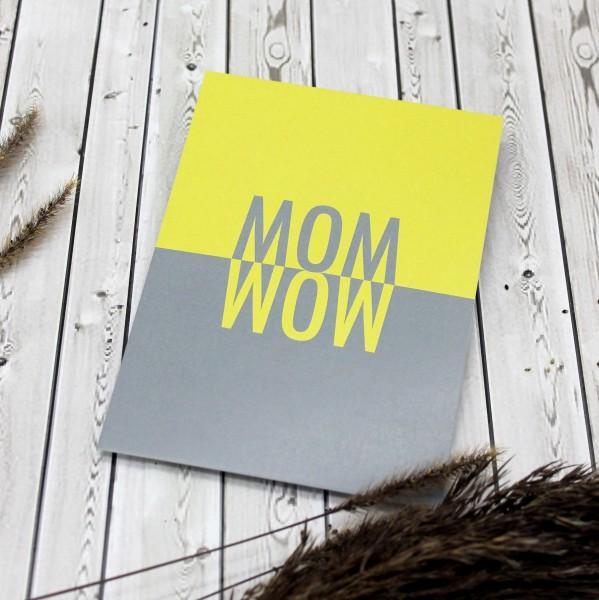 Postkarte - MOM WOW